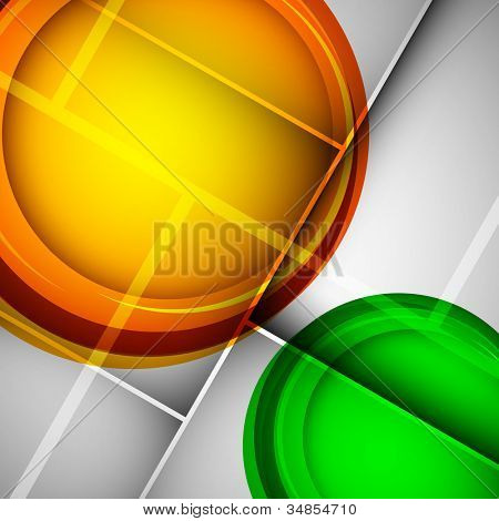 Creative abstract background with Indian Flag color on grey background. EPS 10.
