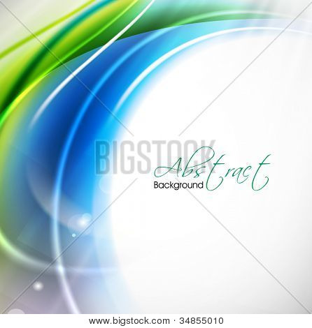 Abstract shiny wave background. EPS 10.