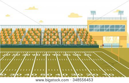 Modern High School Stadium To Play Football And Watch. Varsity Teams, Home Games And Contests. Large