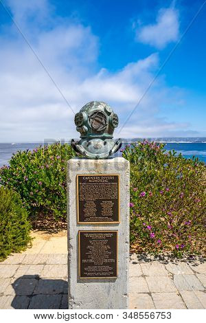 June 10, 2019. Monterey, Usa. Cannery Divers Memorial, Monterey, California An Old Deep Sea Diving H