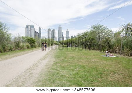 Federal Capital, Buenos Aires / Argentina; Nov 8, 2015: Footpath Of The Costanera Sur Ecological Res