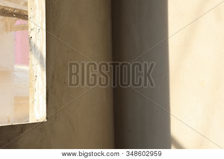 The Room In Buiding Under Construction Show Wall And Ceiling ; Industrial Background