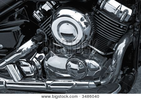 Motorcycle Chrome Engine