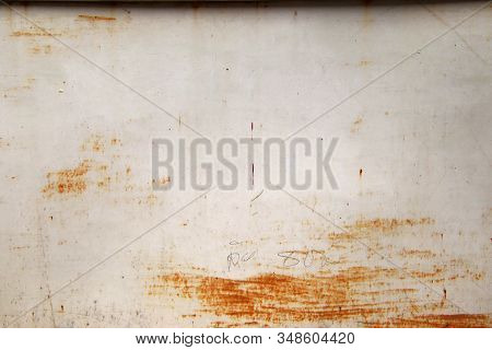 Old Rusty White Metal Background,abstract Texture, Corroded White Metal Background, Rusty White Pain