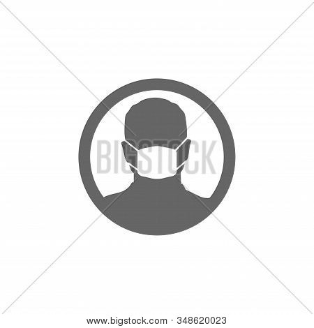 Face Mask Icon Isolated White Background Vector Illustration