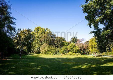 Parc Monceau Gardens In Summer, Paris, France