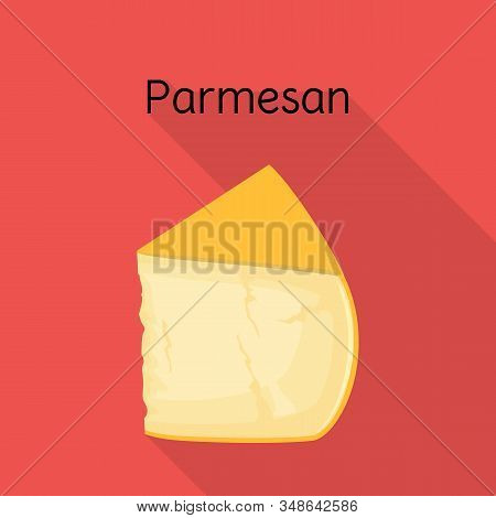 Vector Design Of Cheese And Parmesan Sign. Graphic Of Cheese And Appetizer Stock Vector Illustration