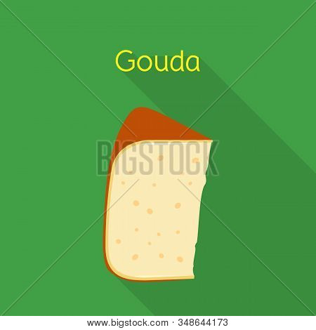 Isolated Object Of Cheese And Gouda Logo. Graphic Of Cheese And Slice Stock Vector Illustration.