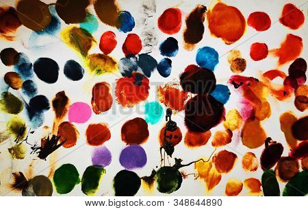 Color Pallette Texture As Very Nice Color Background