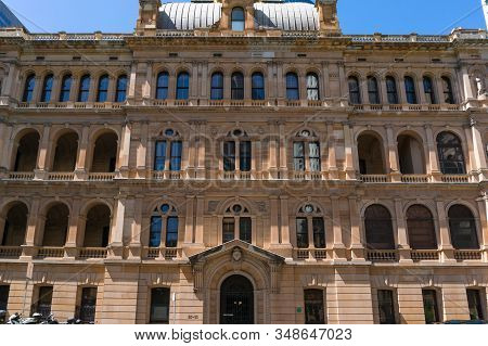 Sydney, Australia - November 24, 2016: Department Of Lands Building Facade Exterior Heritage-listed