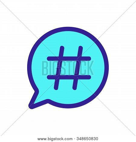 Hashtag Icon Vector. A Thin Line Sign. Isolated Contour Symbol Illustration