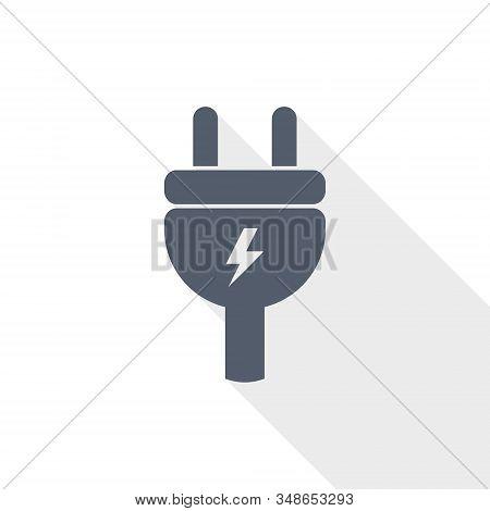 Eletricity Vector Icon, Flat Design Energy, Power, Plug Illustration