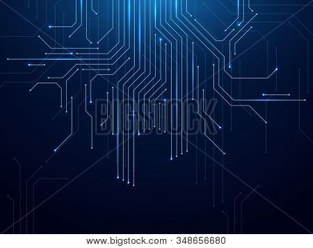Circuit Board. Abstract Futuristic Technology Processing High Tech Electronic Circuit Board, Motherb