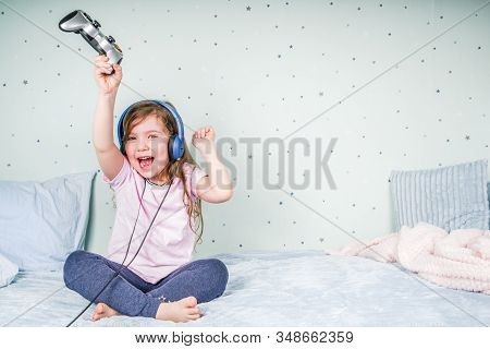 Kids Gaming Video Games Concept