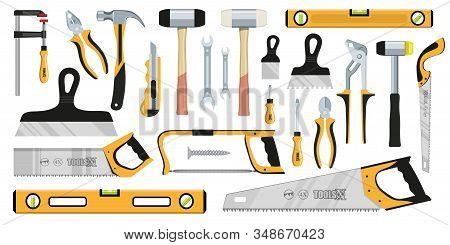 Hand Tools. Working Tools. Home Repair. Construction Tools For Home Renovation. Construction And Car