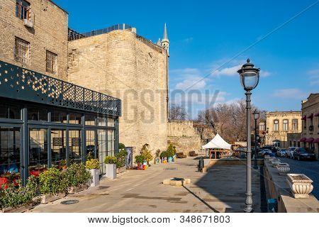 Baku, Azerbaijan 27 January 2020 - Ancient Castle Palace In Baku.