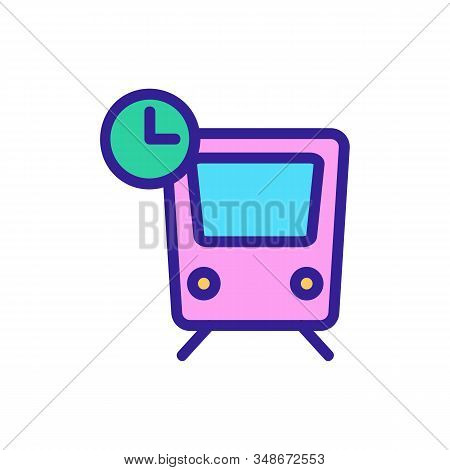 The Arrival Time Of The Transport Icon Vector. A Thin Line Sign. Isolated Contour Symbol Illustratio
