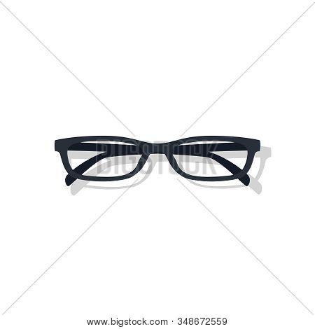 Glasses Frame Vector Graphic Illustration. Eye Wear Accessory Glasses