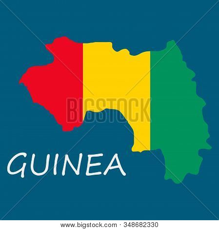 Flag Map Of Guinea Country, Flag, Icon, Symbol, World