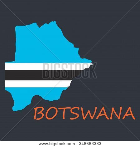 Map Flag Botswana Country, Geography, Icon Country, Geography, Icon