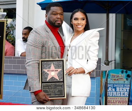 LOS ANGELES - JAN 30:  Curtis Jackson, 50 Cent, Jamira Haines at the 50 Cent Star Ceremony on the Hollywood Walk of Fame on January 30, 2019 in Los Angeles, CA