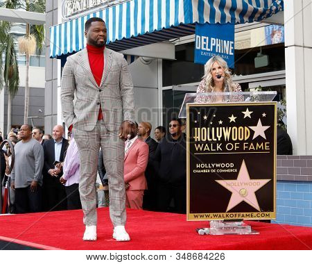 LOS ANGELES - JAN 30:  Curtis Jackson, 50 Cent, Ellen K at the 50 Cent Star Ceremony on the Hollywood Walk of Fame on January 30, 2019 in Los Angeles, CA