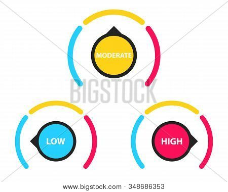 Speedometer Icon. Rating Customer Satisfaction Meter. Speedometer Illustration Indicating High Speed