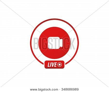 Live Video Stream Icon. Video Stream Icon, Live Streaming. Social Media Element. Live Video, Bloggin