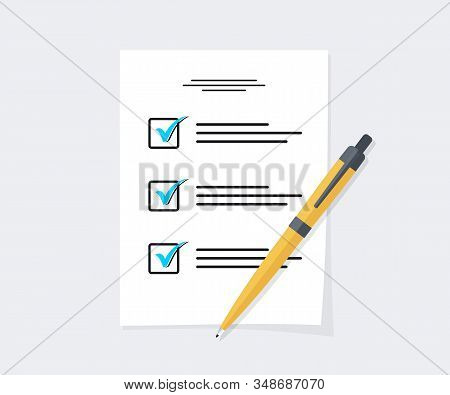Exam Form Paper Sheets Pile With Answered Success Result Assessment, Idea Of Education Test Document