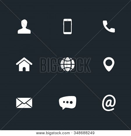 Contact Us Icons. Phone, Smartphone, Email, Location, House, Globe, Address, Chat. Icons Business Ca