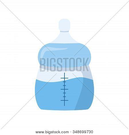 Infant Formula Feeding For Newborn, Blue Milk Bottle Icon