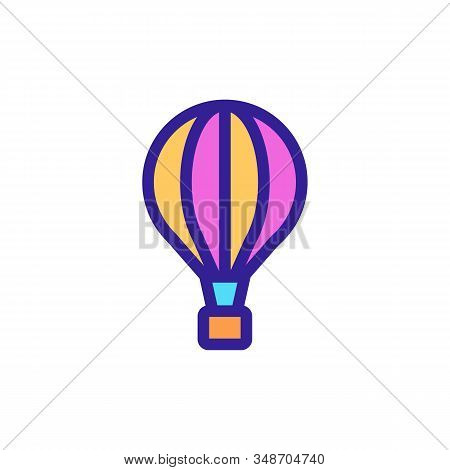 Balloon Icon Vector. A Thin Line Sign. Isolated Contour Symbol Illustration