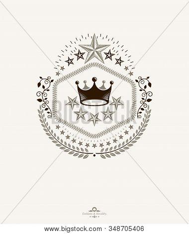 Vintage Heraldry Design Template, Vector Emblem.arms, Blazon,