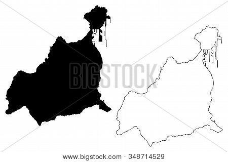 Las Palmas City (kingdom Of Spain, Canary Islands) Map Vector Illustration, Scribble Sketch City Of