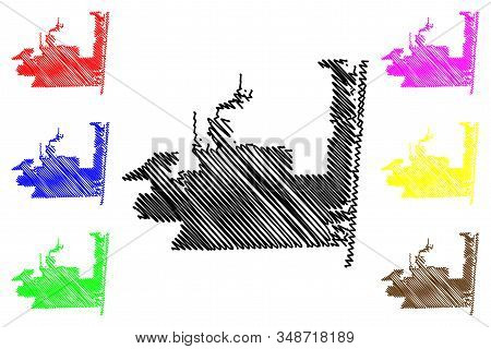 Hollywood City, Florida (united States Cities, United States Of America, Usa City) Map Vector Illust