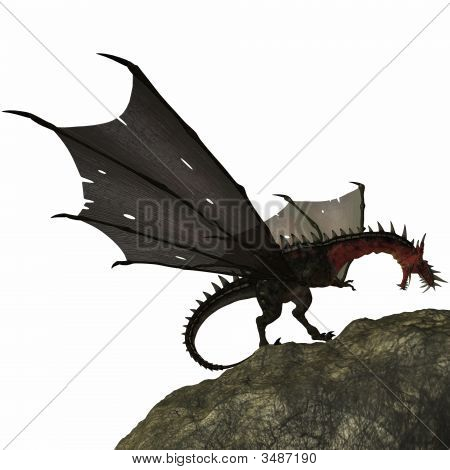 3 D Render of an Fantasy Dragon poster