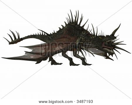 3 D Render of an Fantasy Dragon poster