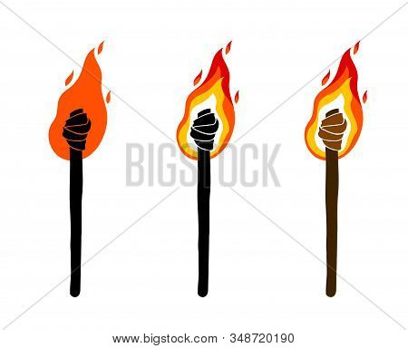 Torch Vector Illustration, Prometheus, Flames Of Fire, Bring The Light To The Dark, Conceptual Alleg