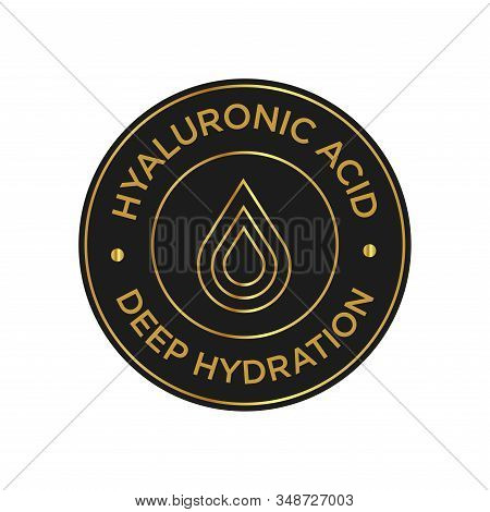 Hyaluronic Acid Icon. Deep Hydration Symbol For Cosmetic Products.