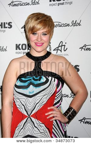 """LOS ANGELES - MAY 16:  Erika Van Pelt arrives at the American Idol's """"Authentic Icon"""" Collection For Kohl's Fan Event at Kohl's on May 16, 2012 in Alhambra, CA"""