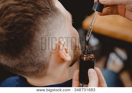Oil For Stimulating Beard Hair Growth For Men, Care And Restoration Structure Barbershop