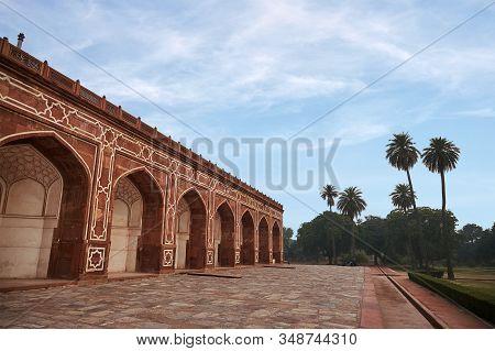 Humayuns Tomb. This Tomb Of The Mughal Emperor Humayun. New Delhi, India