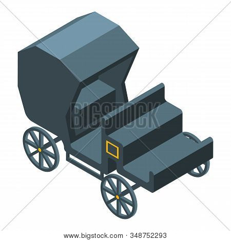 Closed Carriage Icon. Isometric Of Closed Carriage Vector Icon For Web Design Isolated On White Back