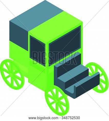 Retro Horse Carriage Icon. Isometric Of Retro Horse Carriage Vector Icon For Web Design Isolated On