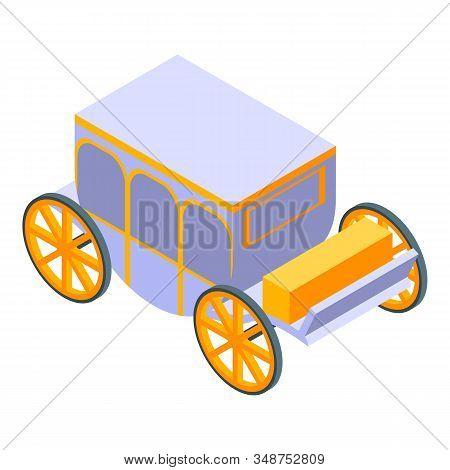 Luxury Royal Carriage Icon. Isometric Of Luxury Royal Carriage Vector Icon For Web Design Isolated O