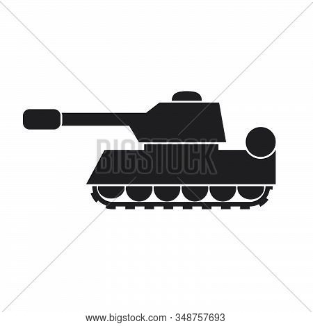 Tank Silhouette Icon On A White Isolated Background. Vector Image. Eps 10