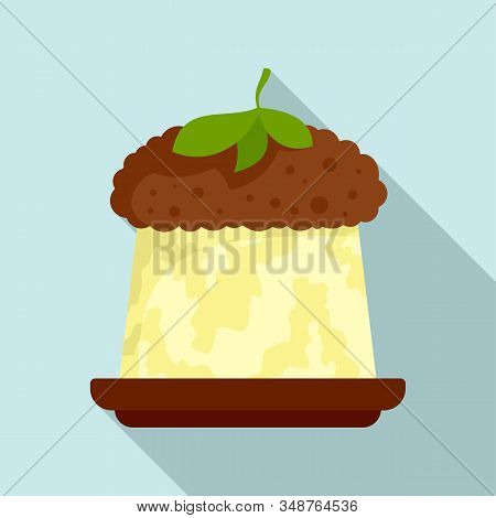 Greek Jelly Cake Icon. Flat Illustration Of Greek Jelly Cake Vector Icon For Web Design