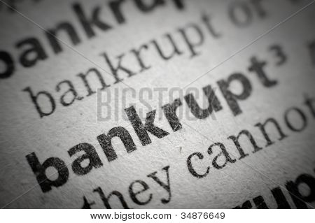 Word Bankrupt In Glossary, Super Macro