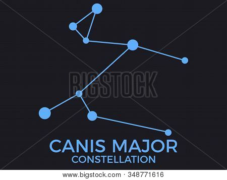 Canis Major Constellation. Stars In The Night Sky. Cluster Of Stars And Galaxies. Constellation Of B