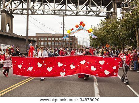 Super Hugger Heart Banner